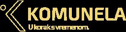 Logo Komunela u žutoj boji